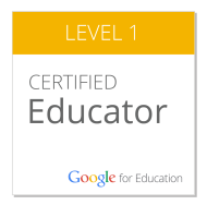 Christian Negre i Walczak is a Google Certified Educator. Click to see!