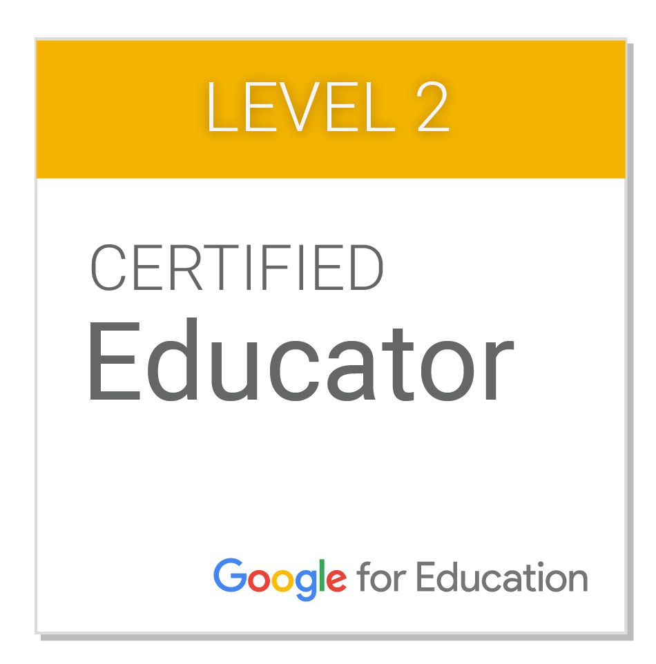 Christian Negre i Walczak is a Google Certified Educator Level 2. Click to see!