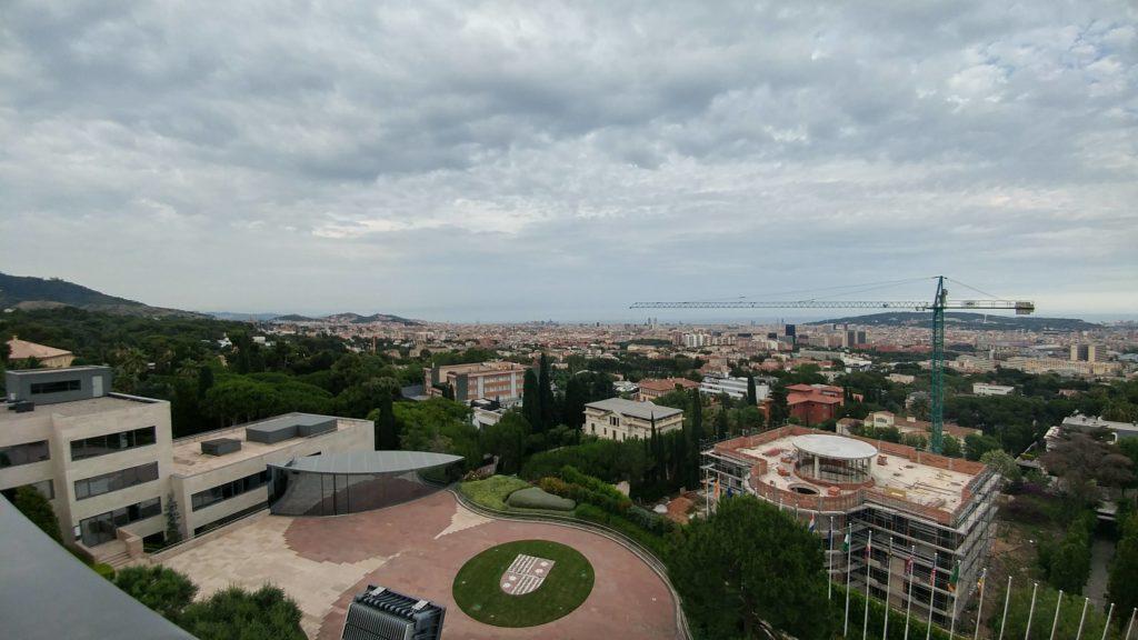 Vistas privilegiadas de Barcelona desde la terraza del Campus Norte del IESE.