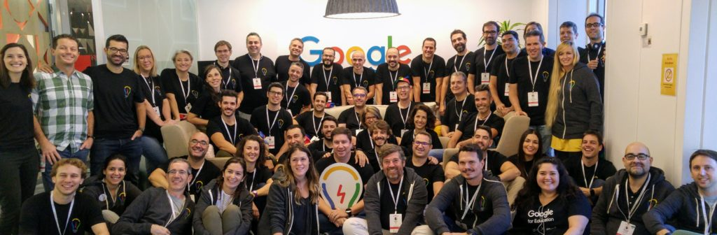 The 36 new professional educators that joined the Google Innovation Academy for three days in Madrid.